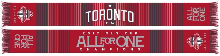 TORONTO FC SCARF - WOVEN 2017 MLS Cup Champions Plaid