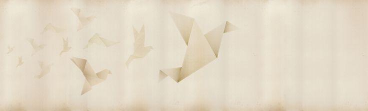 Origami rivestimenti - Inkiostro Bianco