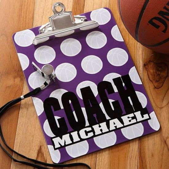 for the coach :) and tons of other cute clipboard ideas!