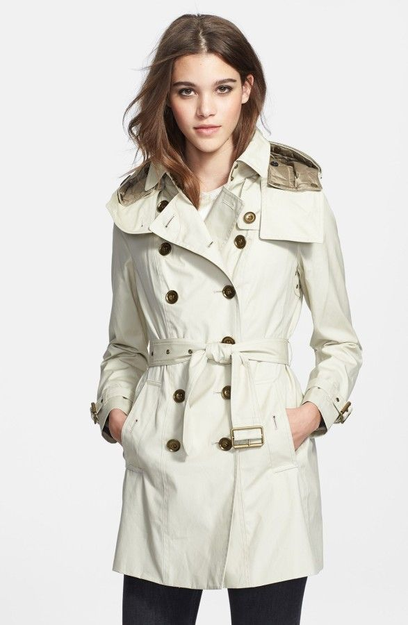 Burberry Brit 'Reymoore' Trench Coat with Detachable Hood & Liner (Prob Size 8)