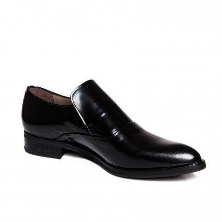 Zurbano | Black Loafer - elegant black patent leather loafer shoes for women