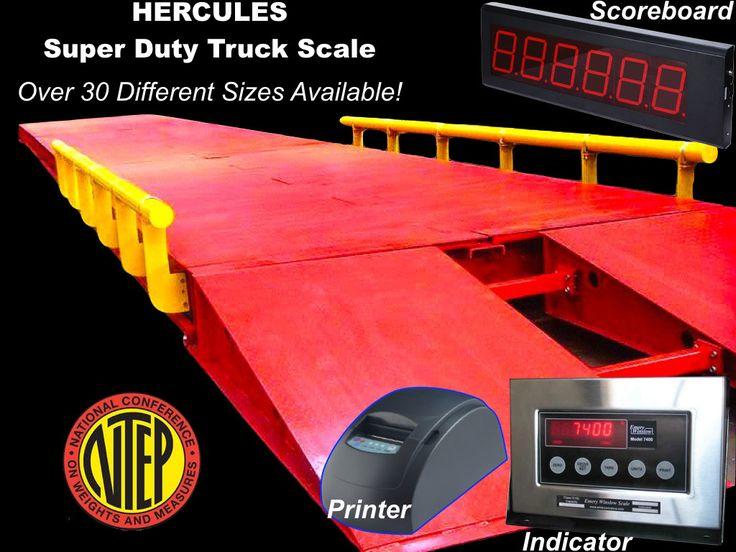 NTEP 60 x 11 ft Hercules Truck Scale l 220,000 lb Steel Deck