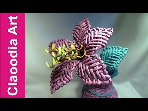 Lilia origami (origami flower) - YouTube