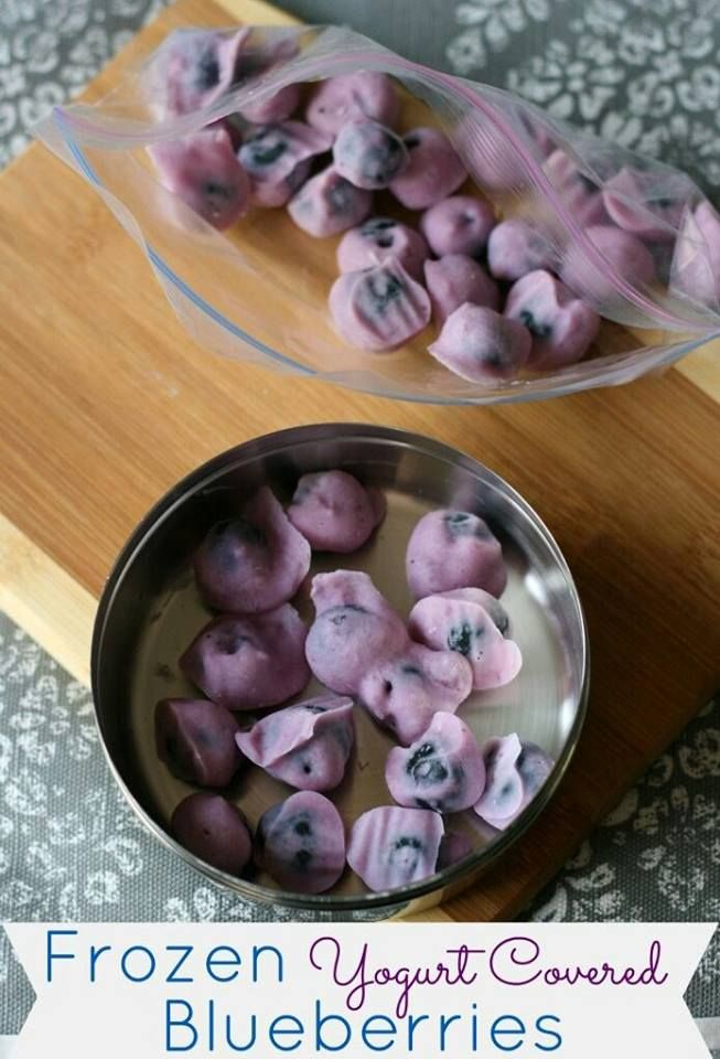 Frozen yoghurt-covered blueberries for a delicious, healthy snack alternative
