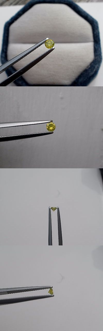 Enhanced Natural Diamonds 152810: 3Mm Canary Yellow Diamond Loose Round 0.11 Carats -> BUY IT NOW ONLY: $34.99 on eBay!