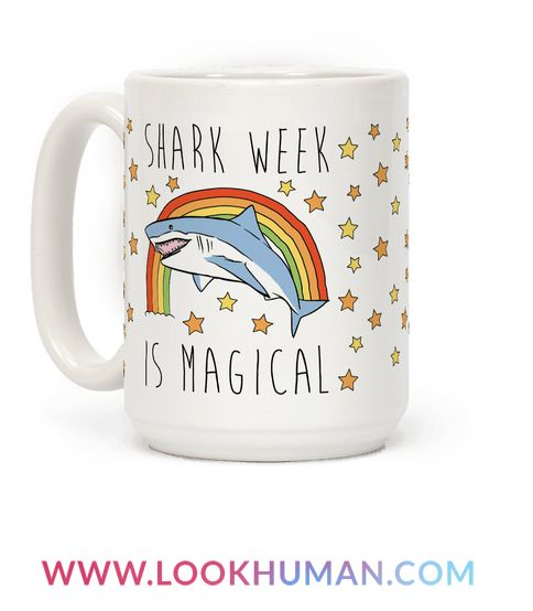 What's more magical than a shark? How about an entire week devoted to them! It's summer time which means it's time for swimming and sharks! Show off your love for sharks this summer with this cute and magical, shark mug!