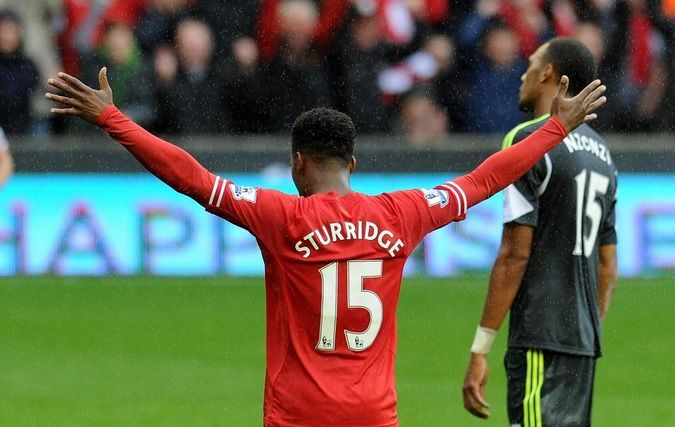 Daniel Sturridge #LFC - Of course it had to be! 3 in 3 with him scoring all of the Reds goals so far. Looking very sharp since his switch from Chelsea, long may it last!