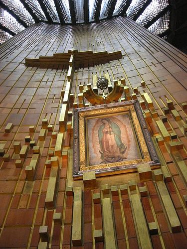 Basilica de la Virgen de Guadalupe - Mexico City, Mexico - I saw this when they were first building the new church,