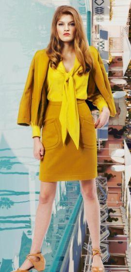 желтая блузка осень-зима 2014-2015