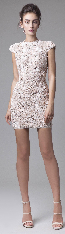 Ideal vestido para ir de boda en la ciudad, de Krikor Jabotian couture 2016 spring summer http://ideasparatuboda.wix.com/planeatuboda