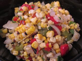 Grilled Corn Salad with lime & cilantro dressing  www.EATS.macaronikid.com