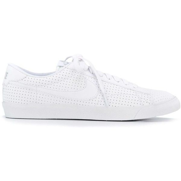 Nike Tennis Classic AC Sneakers (695 EGP) ❤ liked on Polyvore featuring shoes, sneakers, white, leather sneakers, white tennis shoes, perforated sneakers, white shoes and tennis sneakers