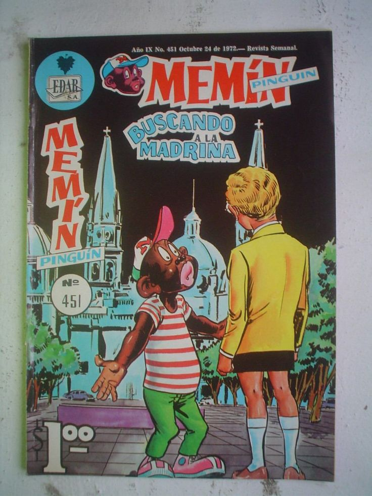 Revistas Mexicanas Comics De Amor | Comic Revista Memin Pinguin Nº451 De 1972