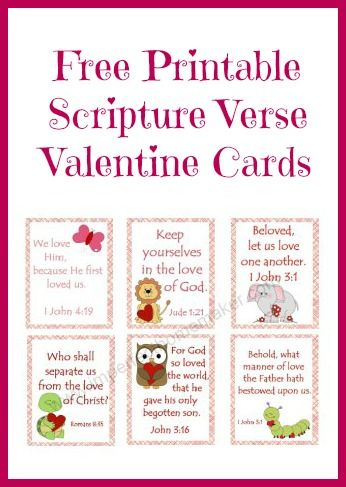 Free Printable Scripture Verse Valentines Christian Valentines from imperfecthomemaker.com