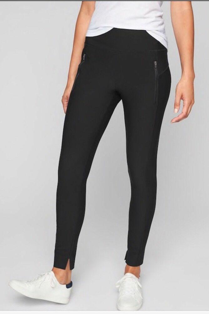 NWT Athleta Women Black Active Pants Sm Tall