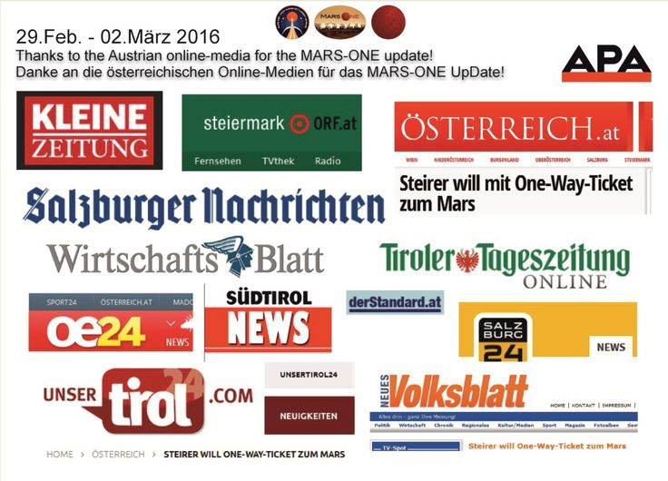Thanks to all online-media sites in Austria for this great update end of Februar 2016 Günther Golob www.guenthergolob.net