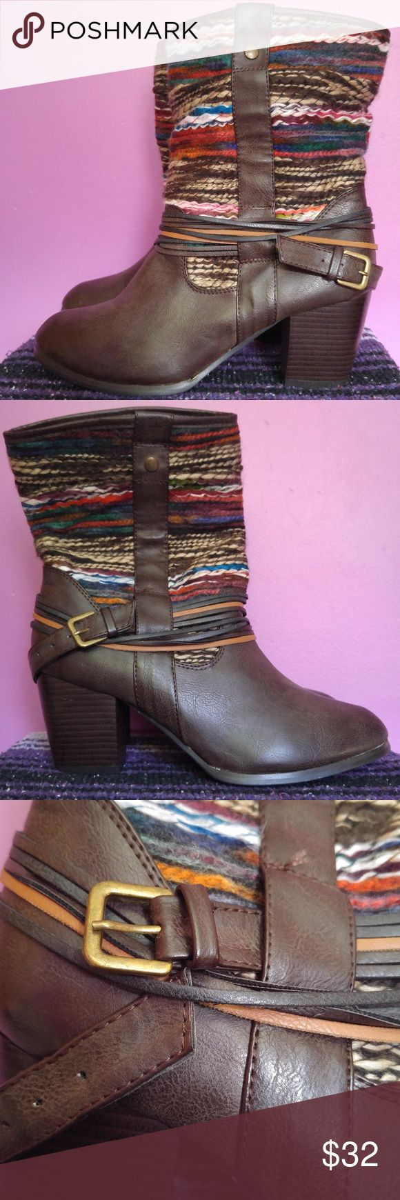 Body Central Brown Leather Ankle Booties Boots 9 BRAND: Body Central  CONDITION: Used condition, minor general wear. A few white scuffs on the rear heel of the right boot. Please view all pictures for more details.  SIZE: Women's 9   STYLE: Ankle booties  CLOSURE: Slip on, side buckle  COLORS: Multi-color, brown Colors shown in pictures may vary slightly from the actual item, due to different lighting and/or screen resolutions.   STORAGE ENVIRONMENT: Smoke-free, pet-free Body Central Shoes…