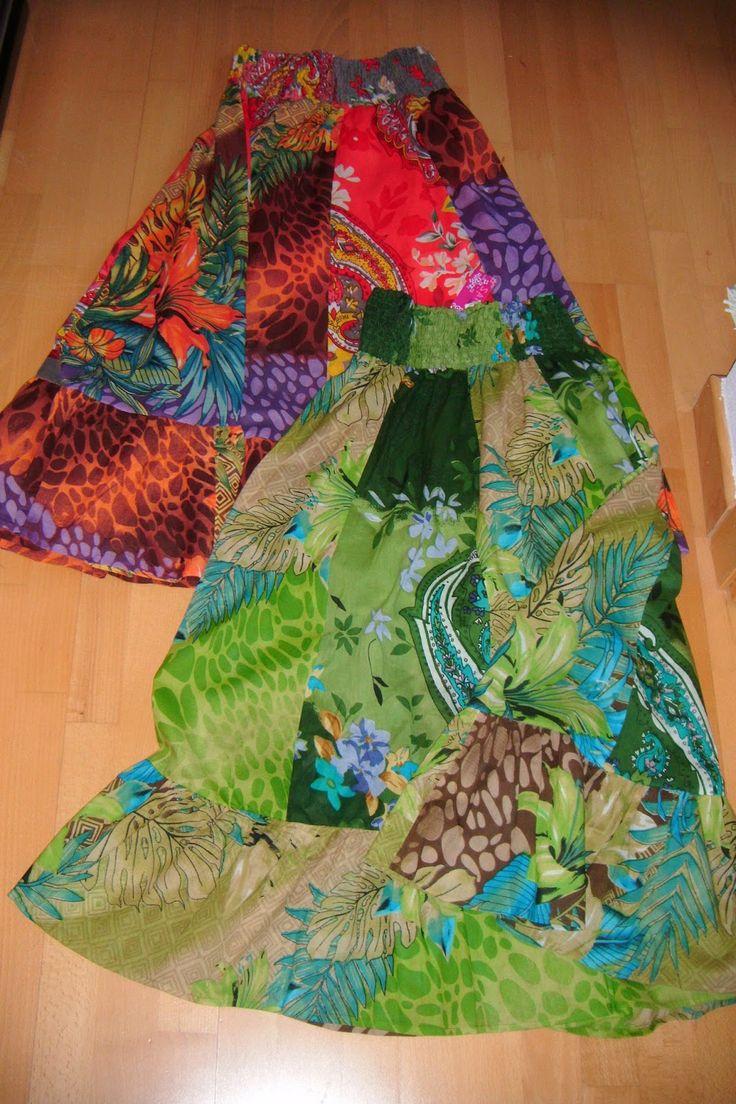 Mis caprichos y abalorios: GIPSY PRINTED SKIRTS  Faldas estampadas en algodón...