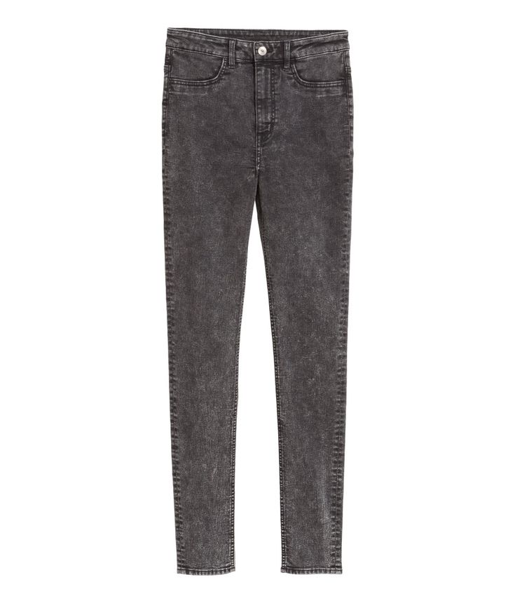 Super Skinny High Jeans - Mørk grå fra H&M, str 38, kr 199,-