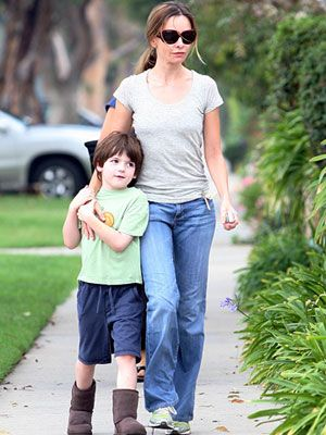 Celebrity Moms Who Adopted: Calista Flockhart (via Parents.com)