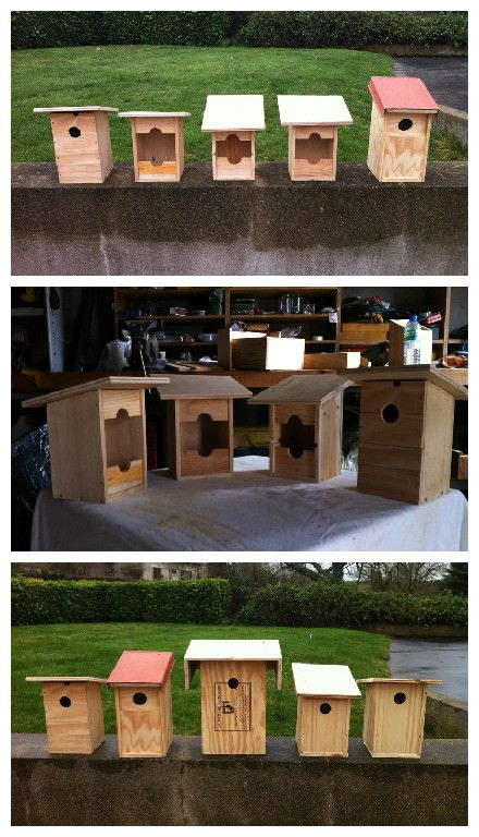Upcycled wine bottle crates into birdhouses birdhouse for Where can i find old wine crates