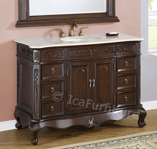 bath cabinet no 4148 cream rose marble bathroom vanity 48 inch
