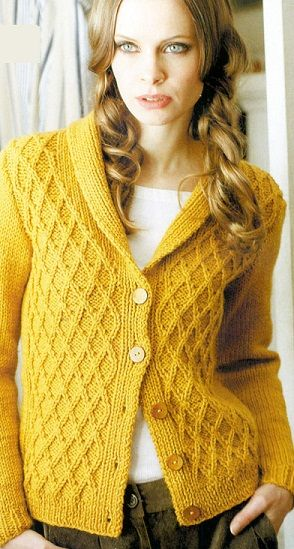 Вязание кардигана спицами/cable stitch knit sweater/ would be much easier in crochet