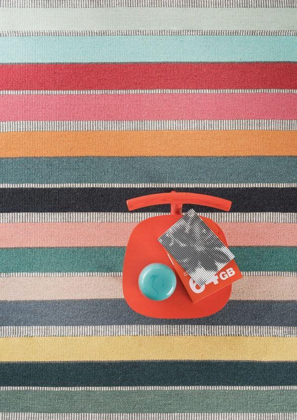 alfombra de lana shelbie de la coleccin essentials de linie design tejida a mano