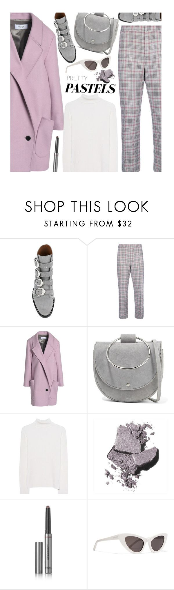 """Untitled #4430"" by beebeely-look ❤ liked on Polyvore featuring Givenchy, Isabel Marant, Chalayan, Theory, Victoria, Victoria Beckham, Bobbi Brown Cosmetics, Burberry, Yves Saint Laurent and pastelsweaters"