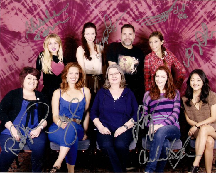 Alessandra Torresani, Elyse Levesque, Aaron Douglas, Dichen Lachmann, Robin Thorsen, Alaina Huffman, Felicia Day, Amy Okuda and me, 2012