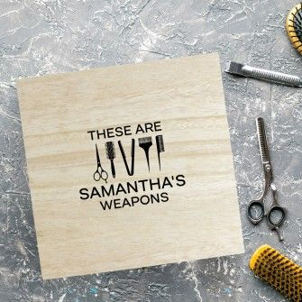 Personalised Large Wooden Box - Her Weapons
