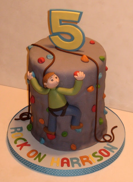 Rock Climbing Birthday Cake - perhaps more do-able than the other...