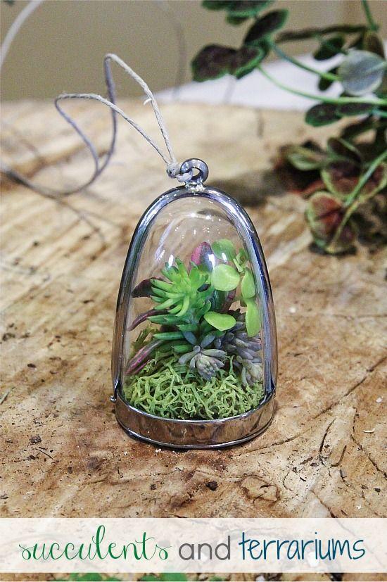 Succulents and terrarium necklace