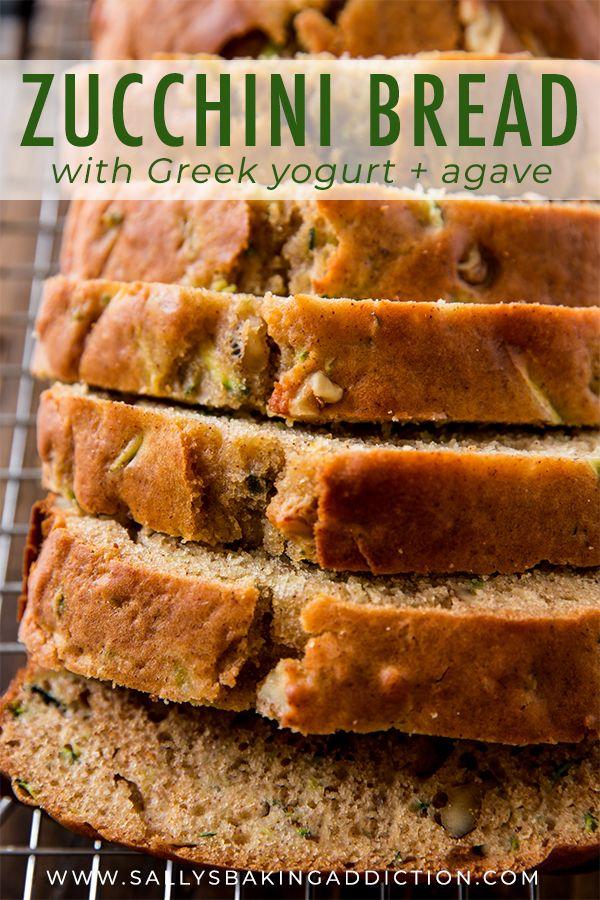 Super Simple Easy Healthy And Moist Greek Yogurt Zucchini Bread