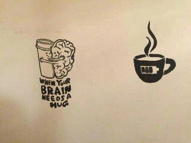 عندما يحتاج دماغك لحض ن اشرب قهوة Mugs Home Decor Decals Home Decor
