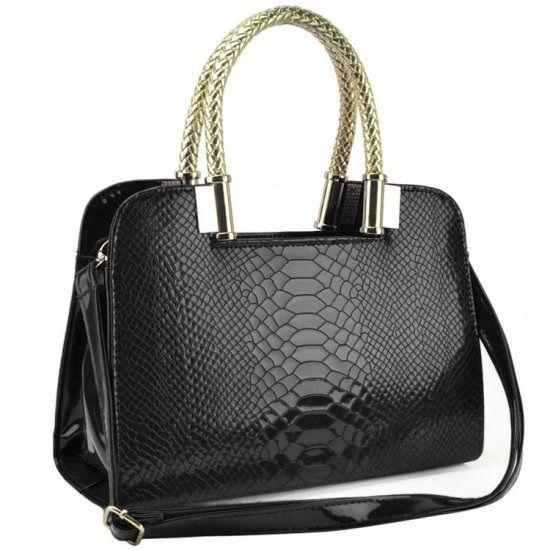 Crocodile Patent Tote Bag  £20