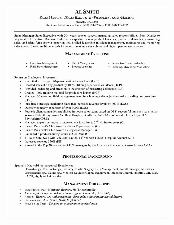 Lovely medical device district sales manager resume area