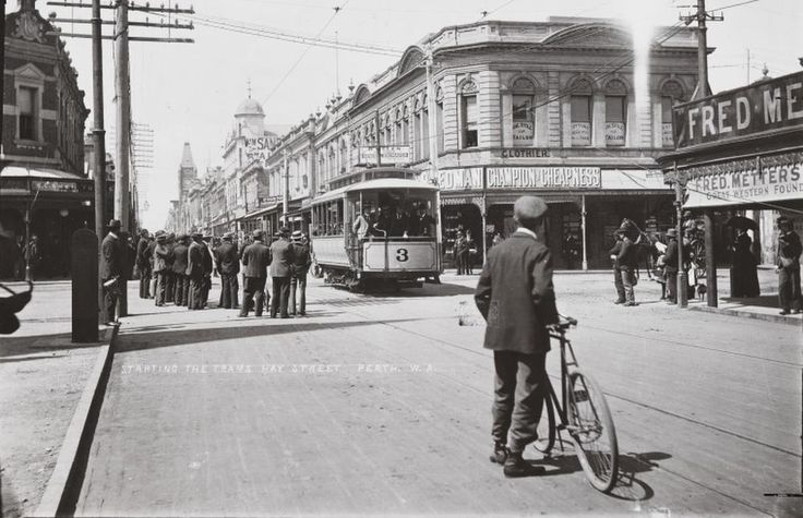 Hay Street, Perth in 1899. Picture: State Library of WA.