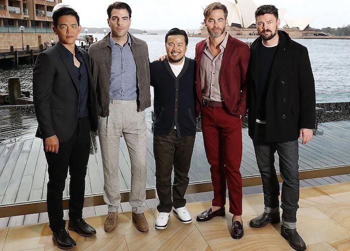 John Cho, Zachary Quinto, Justin Lin, Chris Pine & Karl Urban Pose For 'Star Trek Beyond' Photocall In Sydney