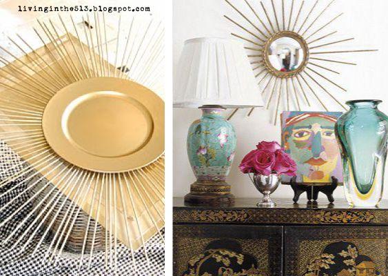 45 best Sunburst mirror DIY images on Pinterest | Decorating ideas ...