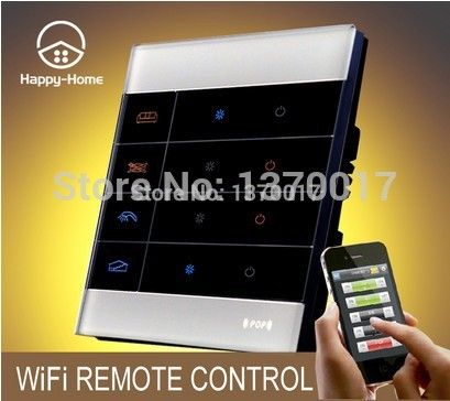 Top Tempered Glass White 2 Gangs Zigbee Mobile Wireless remote control light switch Wifi Remote light Switch 220V,Free Shipping #Affiliate