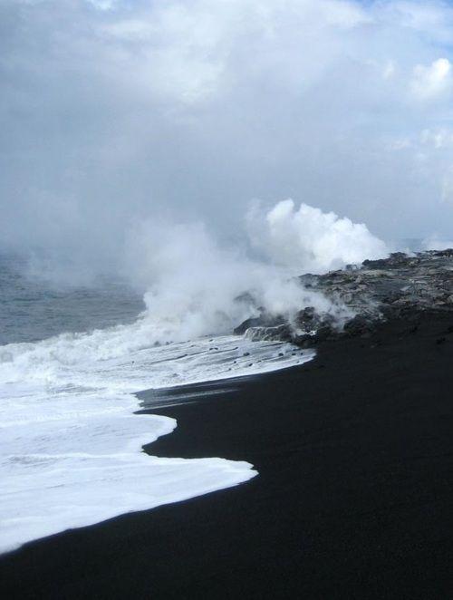 Punaluu Black Sand Beach, hawaii   Hawaii   Pinterest ...