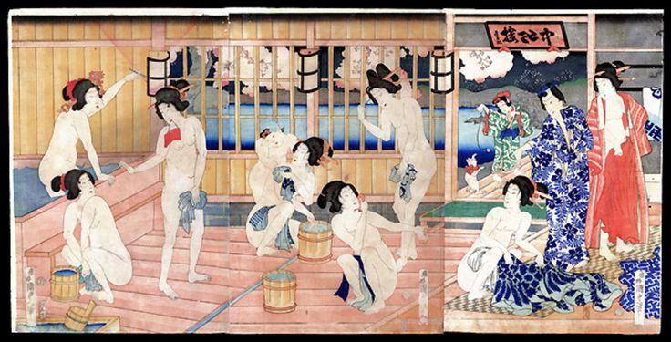 Utagawa Kunisada: Bath House - Japanese Art Open Database - Ukiyo ...