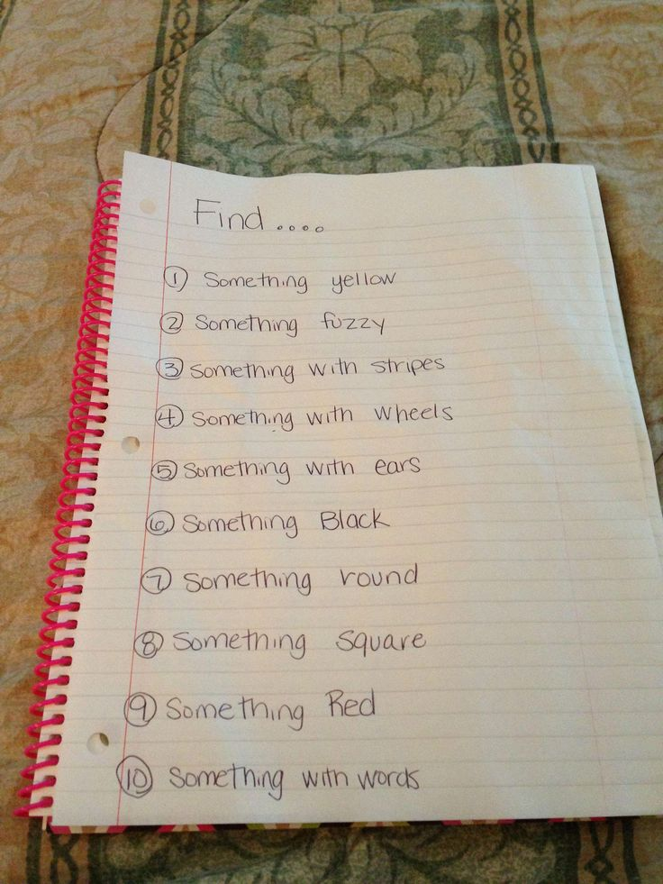 Scavenger Hunt List >> Indoor scavenger hunt for younger kids. My 7 year old ...