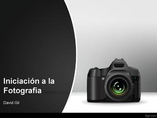 Curso iniciacion a la Fotografía