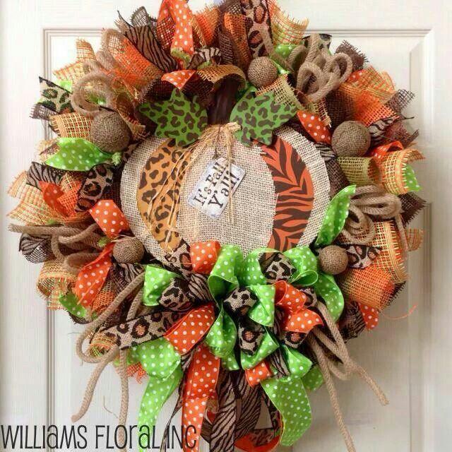 Fall fabric wreath... seems easy enough