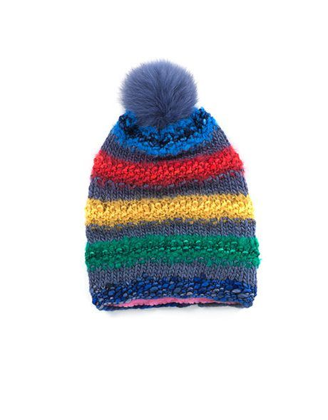 Hand Knit Beanie Cap Wool in Maritimes Blue by @Goble