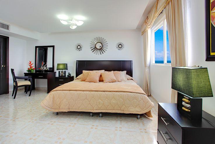 Habitación doble del Hotel Dorado en Cartagena frente al mar