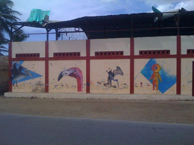 Mural Recreativo para la comunidad pesquera de Boca de Rio