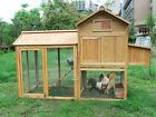 Deluxe Wooden Chicken Poultry Rabbit Pet Coop Hen house Hutch Cage 11 Large
